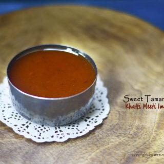 sweet tamarind sauce / meethi imli ki chutney