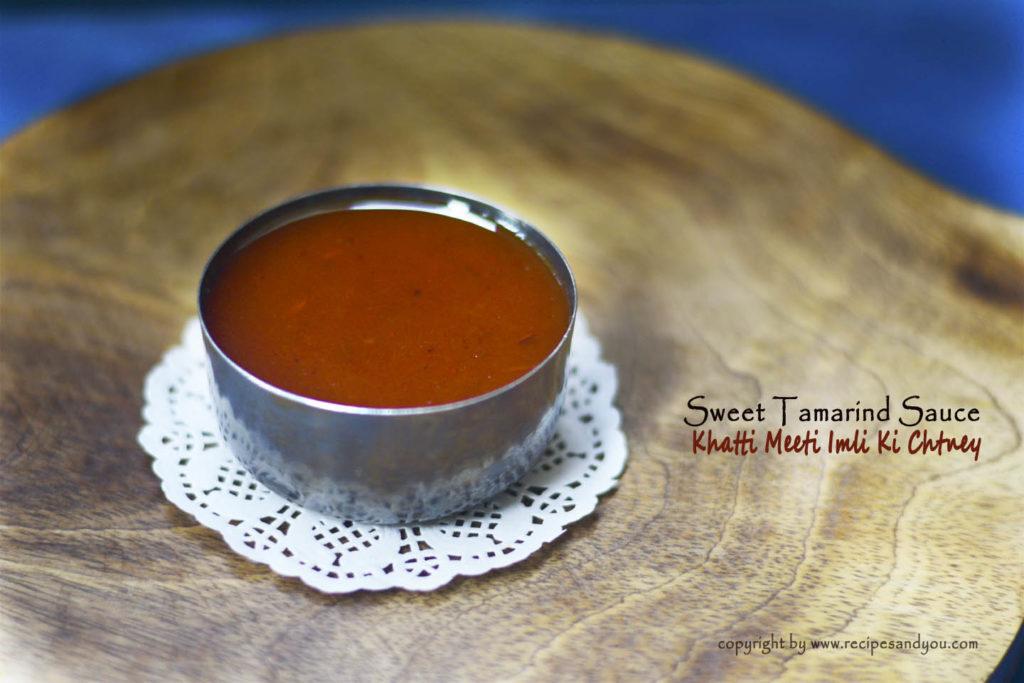 Sweet Tamarind Sauce | Meethi Imli Ki Chutney