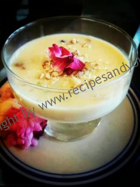 Gulab Phirni / Rose Phirni/Rose Rice Pudding Recipe ...