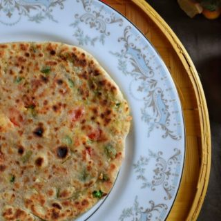 Italian Parantha with wholewheat and flax seeds.