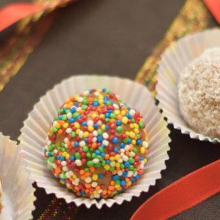 Khoya Truffles made from homemade khoya