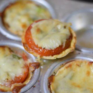 Mini Tortilla Pizza Cups