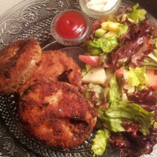 Pan Fried Sole Fish with Green salad
