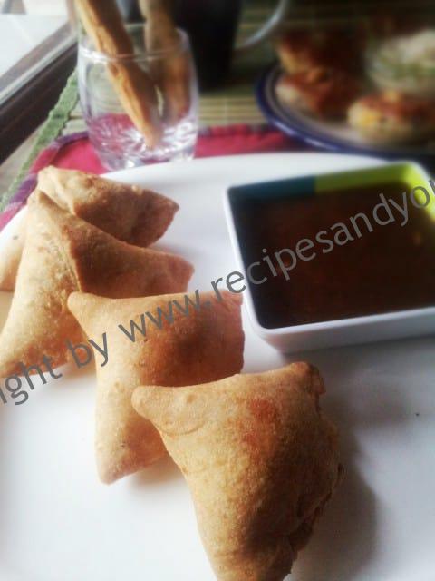 Samosa with wholewheat flour