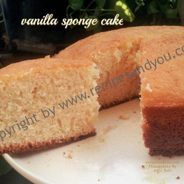 Vanilla sponge cake recipe recipesandyou for Basic vanilla sponge