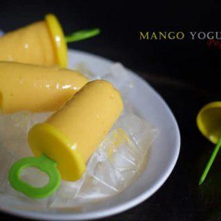 Mango Yogurt Popsicles