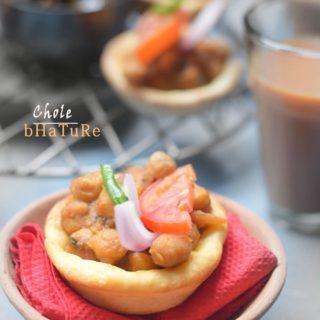 Chole Bhature Baked Mini Bites