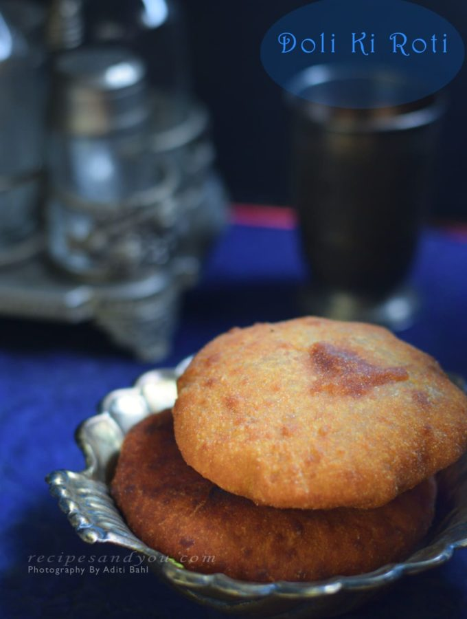 Doli Ki roti- Traditional Indian Bread- Fermented, stuffed and fried.