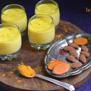 Golden Milk Shots/ Turmeric saffron almond Milk Shots /Turmeric Latte