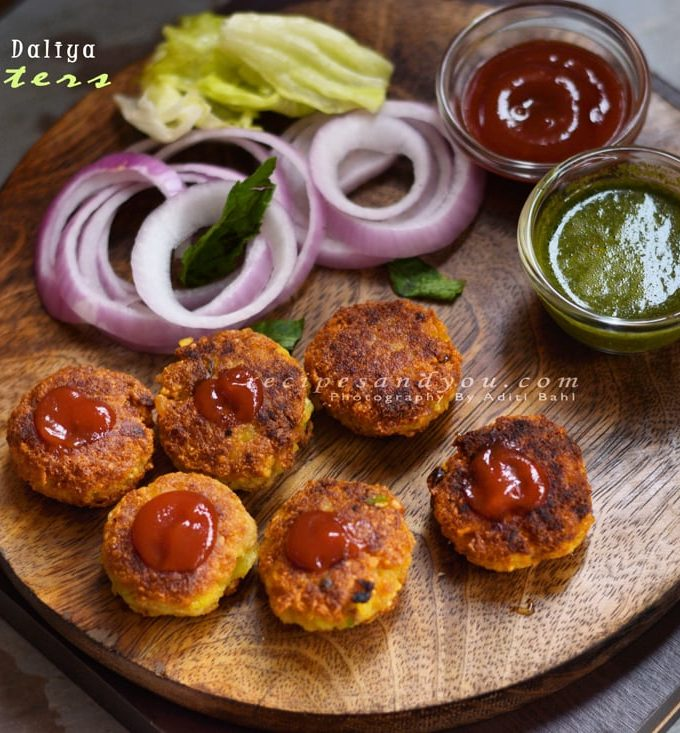 Nutrela broken wheat Fritters-how to make soy chunks and daliya fritters