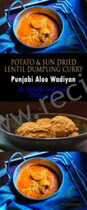 Potato and sundried lentil curry