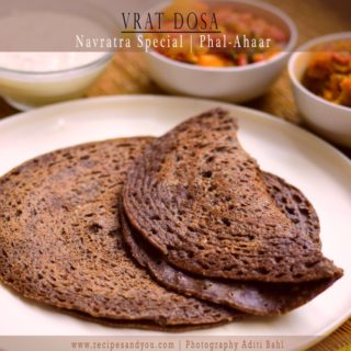 Vrat Dosa/Buckwheat Pancake/Dosa eaten during Fasting