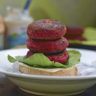 beetroot burgers,kids tiffin idea