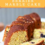 whole-wheat almond berries marble cake