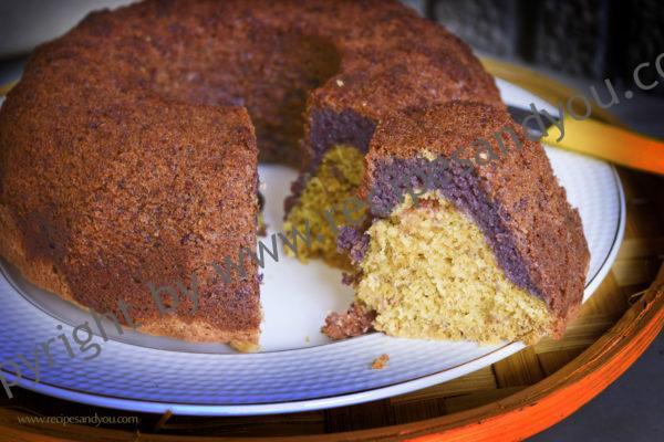 graped vanilla cranberries almond cake