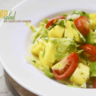 mango salad with roated cumin vinaigrette