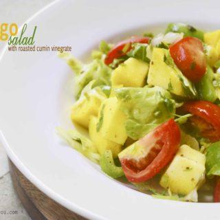 mango salad with roated cumin vinaigrette
