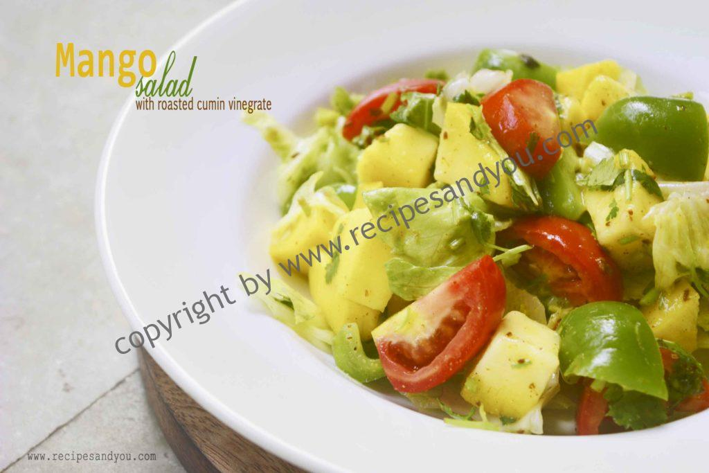 Mango Salad with roasted cumin vinaigrette