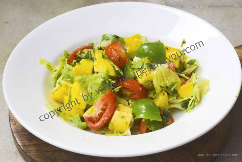 mango salad with rosted cumin viniagrette