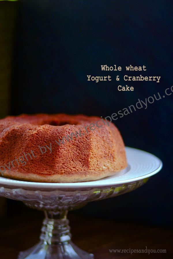 yogurt cranberry cake