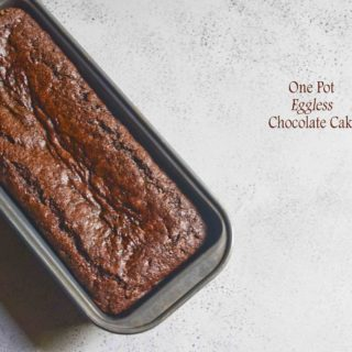 one pot egg less chocolate cake
