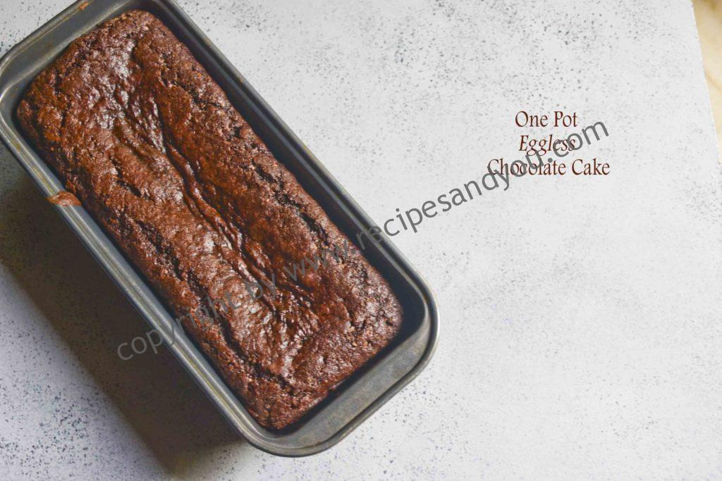 One pot Whole-wheat Egg less Chocolate Cake