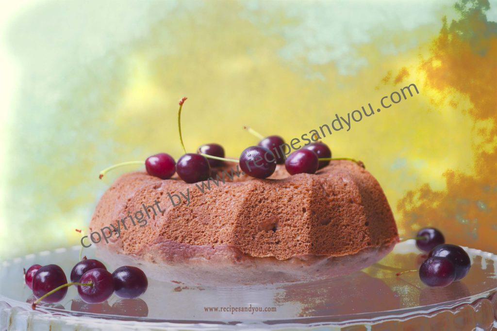 Whole wheat Cherry Ice cream Cake- eggless