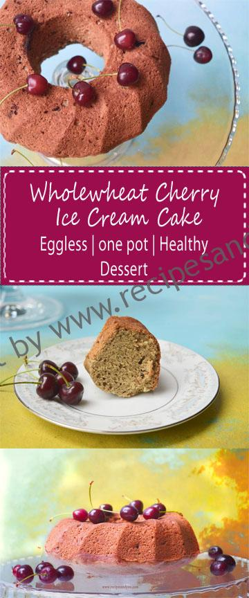 whole wheat cherry ice cream cake