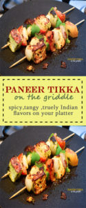 paneer tikka on the griddle