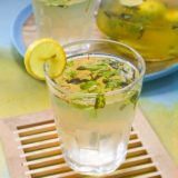 saffron ginger mint lemonade