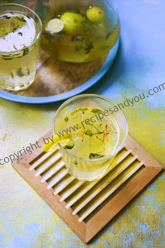 saffron ginger mint lemonade-how to make saffron lemonade