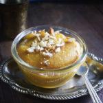 besan sheera / turmeric saffron gram flour sheera