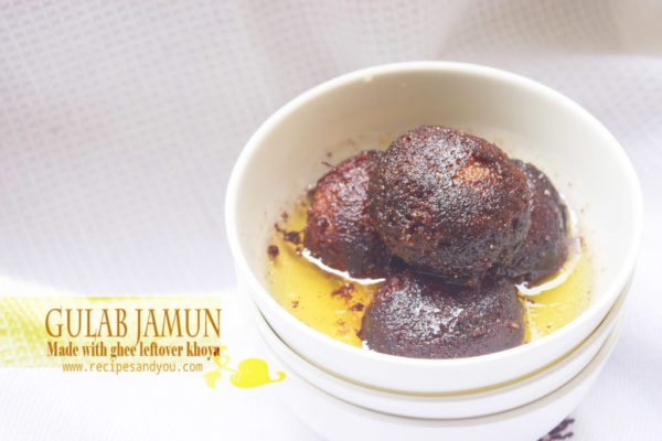 Gulab Jamun made with homemade khoya