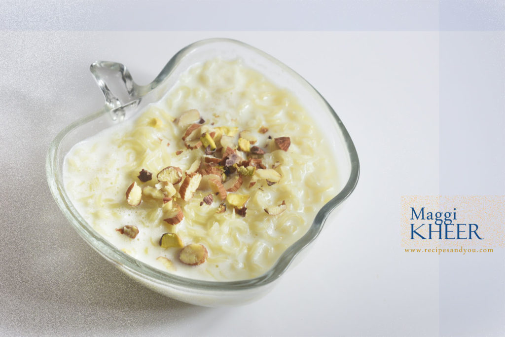 Maggi Pudding/Maggi Kheer- 2 minute pudding