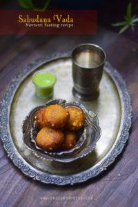 sabudana vada,navratri fasting recipe