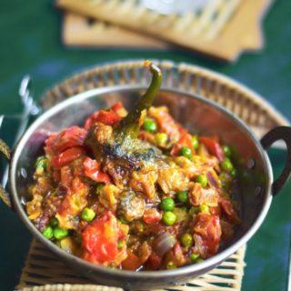 Baingan Bharta Recipe (Roasted Eggplant Stir fry)