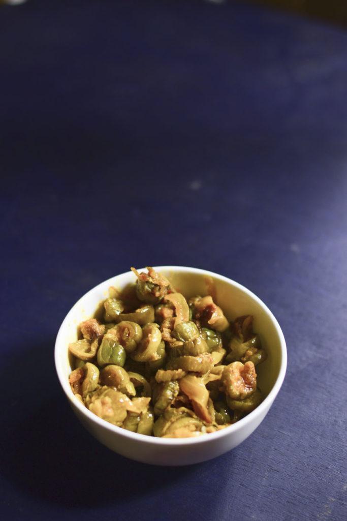 kundru masala, ivy gourd pan roasted