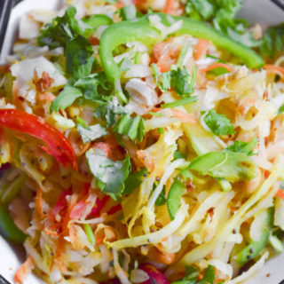 Raw Papaya Salad | How to make crunchy raw papaya salad with mustard