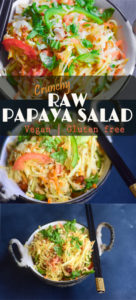 raw papaya salad