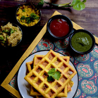 Spiced Savory Waffles |  The best savory waffles